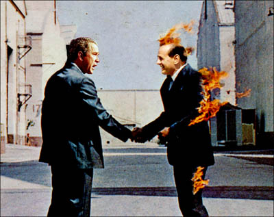 "Cover Art from the Pink Floyd Album – ""Wish You Were Here"""